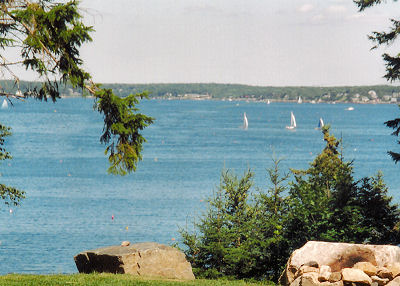 sailboats in the outer harbor