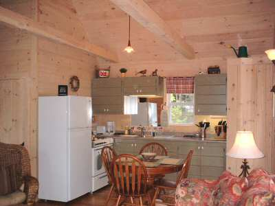 kitchen. Gray Homestead cottage rental in Maine near Boothbay Harbor