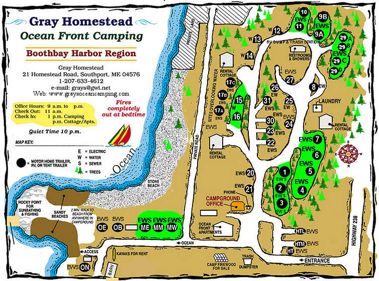 Gray Homestead Camping Map