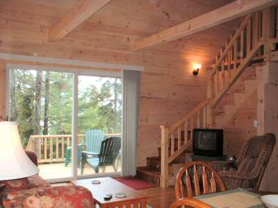 interior of new cottage.Gray Homestead cottage rental in Maine near Boothbay Harbor