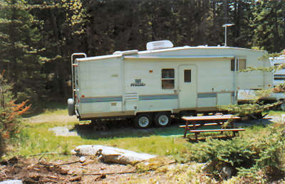 Seasonal site #2 is ideal for RVs